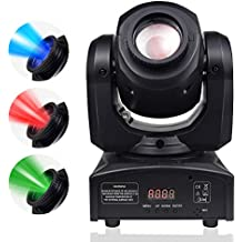BETOPPER DJ Moving Head LEDs Light Spot Stage Lighting 8 Colors Light 10W with 9/11 Channel for Party Disco DJ Show DMX-512 for Mothers Day Show