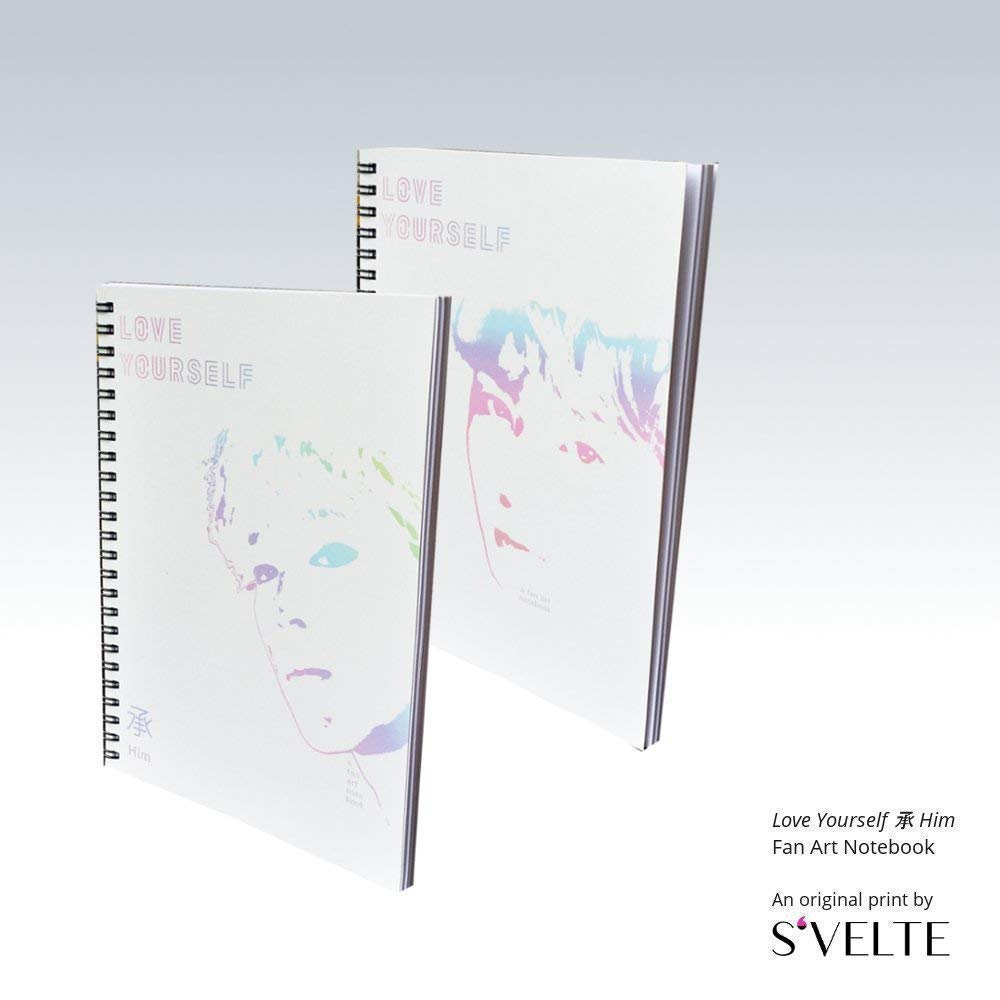 Korean fandom gift: BTS Bangtan Boys inLove Yourself 承 Her. A fanart notebook by S'VELTE.