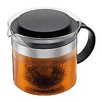 Bodum Teebereiter bistroNouveau (Kunststoff Teesieb, Hitzebeständiges Glas, 1,5 liters) schwarz