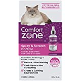 Comfort Zone Spray & Scratch Control Cat Calming Spray, 2 oz