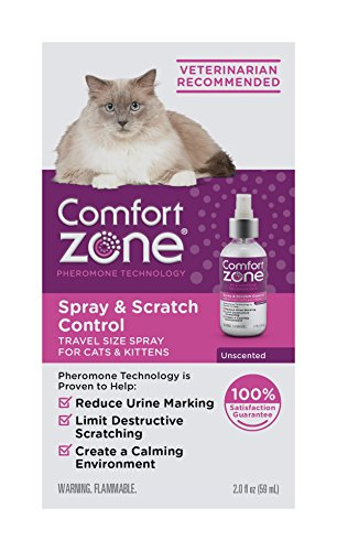Comfort Zone Spray & Scratch Control Cat Calming Spray, 2 oz trial size
