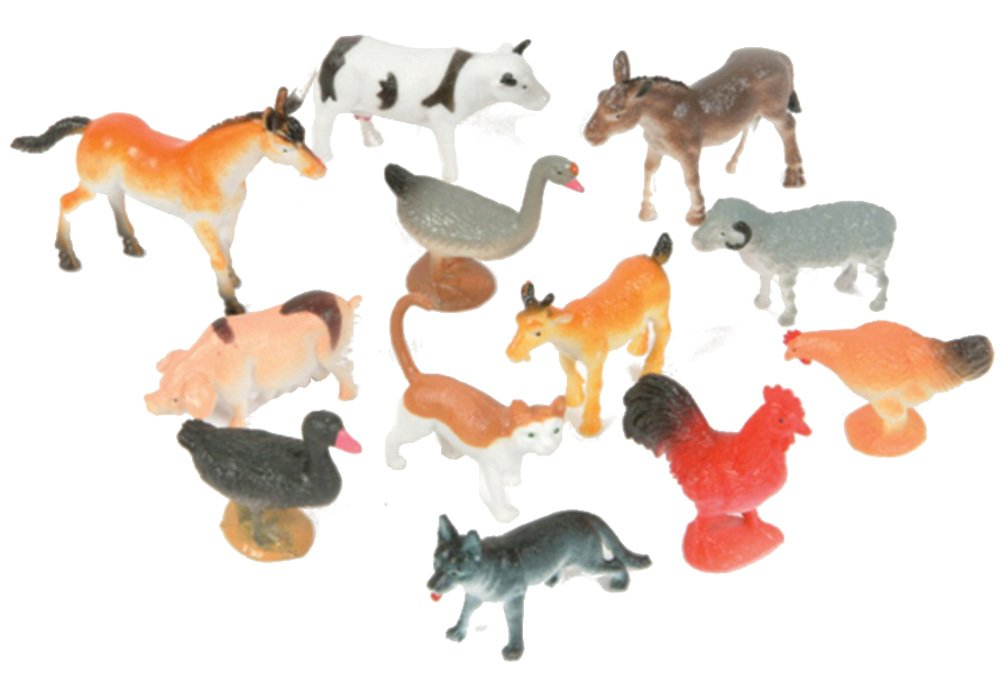 Farm Animal Toys : Plastic farm animals various color may vary party