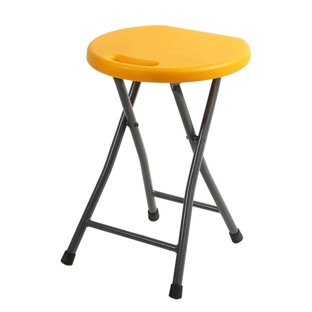 E Folding High Stool Seat, Lightweight PortableStudent Learning Round Chair Restaurant Decoration Bar Party Bar Seat (color   A)