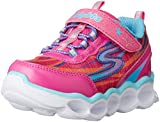 Skechers Kids Lumos-10613L Light-Up Sneaker (Toddler/Little Kid),Hot Pink/Multi,2 M US Little Kid