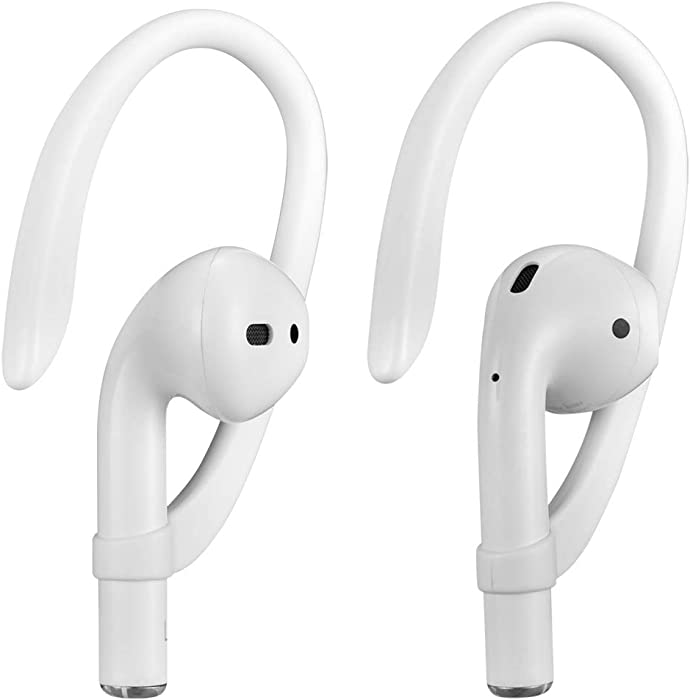 Ear Hooks Compatible with Apple AirPods 1, 2 and Pro, ICARERSPACE Sports Ear Hooks for AirPods 1, 2 and Pro - White