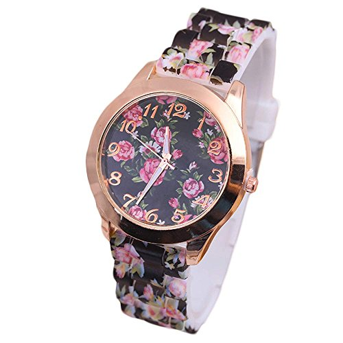 2017 New Womens Flowers Watches,COOKI Unique Analog Fashion Clearance Lady Watches Female watches on Sale Casual Wrist Watches for Women Comfortable PU Leather Watch-H28 ()