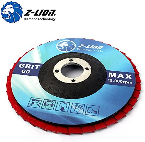 Grit Abrasive Sanding Flap Wheel Professional Serrated Lock Washer│Blue│10 Pieces│ 125 mm│Grit 60│Grinding Disc│Layered Disc Toolzone Trade Quality