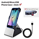 Avantree Micro USB Samsung Charging Dock, Docking Station for Galaxy Android Phones with Charge & Sync Cable [NOT Type C], Charger Stand Cradle, Support Thick Cases < 3mm
