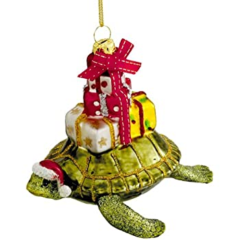 Amazon.com: Beachcombers Glass Nautical Ocean Sea Turtle Christmas ...