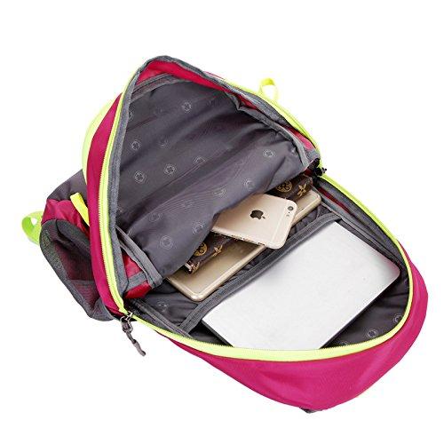 Mountaineering Bag Outdoor Männer und Frauen Schulter Rucksack Wandern Bergsteigen nulon Paket wasserdichte Taschen , orange