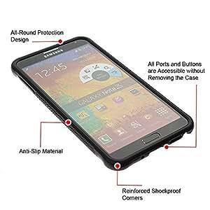"""Pulsar iFace Series Tpu silicona Carcasa Funda Case para SAMSUNG Galaxy Note 3 III / N9000 / N9005 , Patrón Placa brillante reflectante"""""""