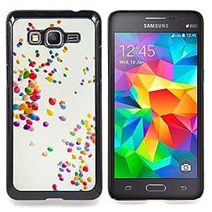 """Globos coloridos"""" - Metal de aluminio y de plástico duro Caja del teléfono - Negro - Samsung Galaxy Grand Prime G530F G530FZ G530Y G530H G530FZ/DS"""
