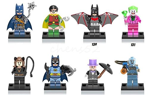 Mini Figures Mr. Freeze Pirate Batman Robin Batman Beyond Penguin Building Toys (Penguin Man From Batman)