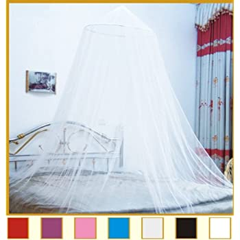 OctoRose Round Hoop Bed Canopy Mosquito Net Fit Crib Twin Full Queen & Amazon.com: Siam Bed Canopy and Mosquito Net in Ivory: Home u0026 Kitchen