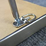 100 Pack D-Ring Picture Hangers with Screws for