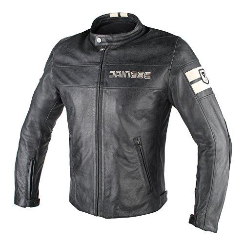 Dainese Stripes (Dainese HF D1 Leather Motorcycle Jacket Black/Ice 52 Euro/42 USA)