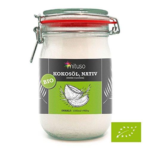Mituso Bio Kokosöl nativ, 1er Pack (1 x 1 l)