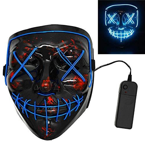 XMSSIT Halloween Mask LED Light Up Mask