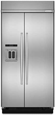 KitchenAid KBSD608ESS KBSD608ESS 29.5 Cu. Ft. 48 Width Stainless Built-In Side-by-Side Refrigerator