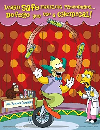 Simpsons Chemical Safety Poster - Learn Safe Handling Procedures ...