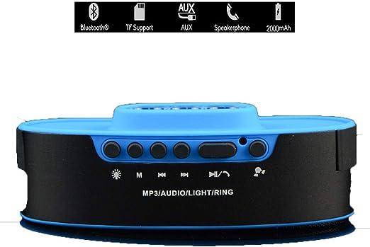 QXWSZ Altavoz Bluetooth Luz De Audio Bluetooth para Montar Al Aire Libre Radio A Prueba De Agua Y Polvo Altavoz De Audio Bluetooth,Blue: Amazon.es: Jardín