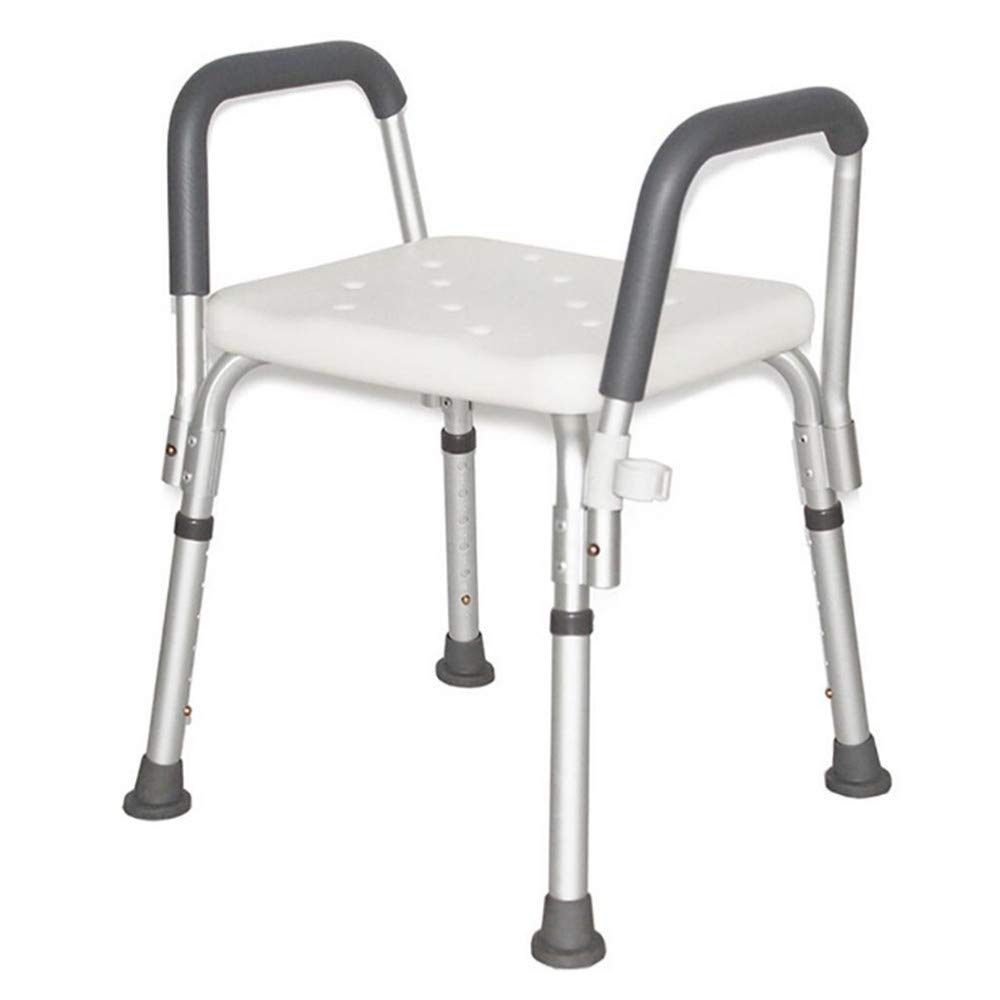 Elderly Bath Stool With Anti-slip Arm Bath Stool Pregnant Women Shower Stool Aluminum Alloy Bath Chair 70X48X43CM Adjustable
