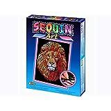 Sequin Art Blue, Golden Lion, Sparkling Arts and Crafts Picture Kit