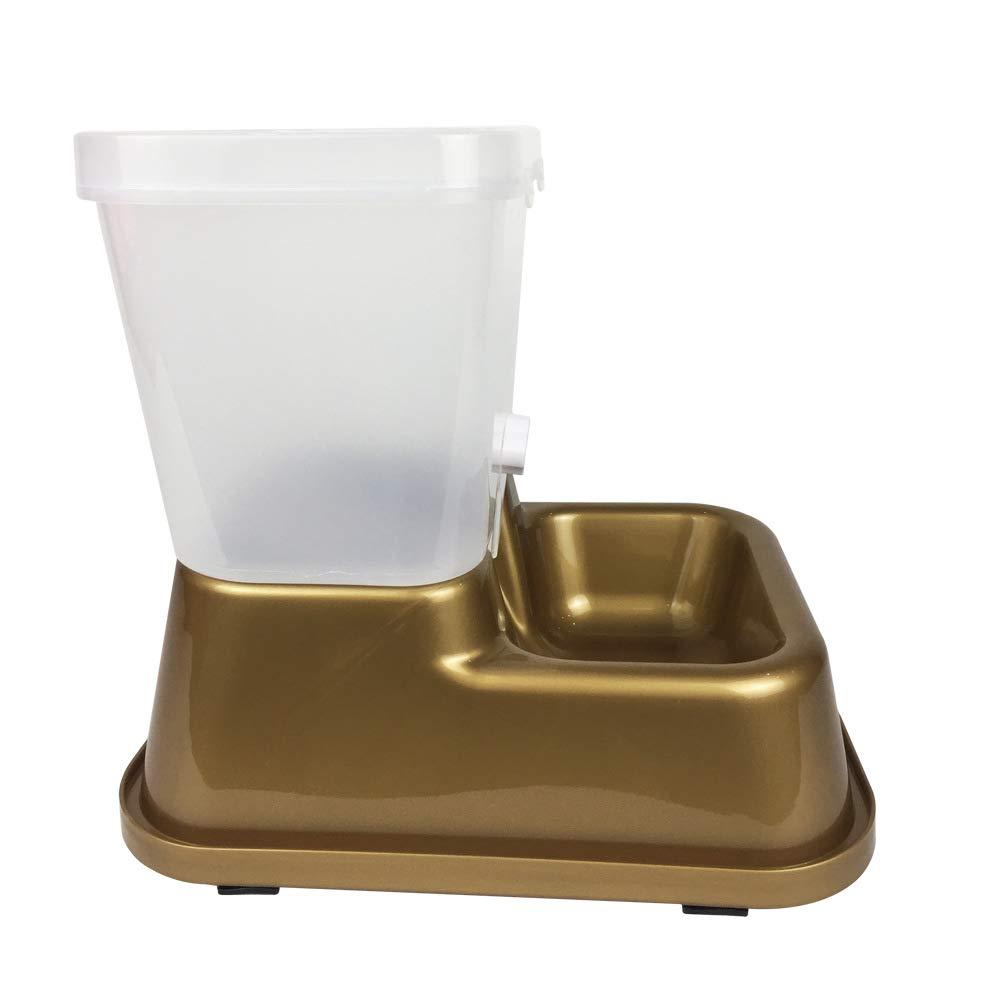 Xiaoqin Automático Pet Cat Dog Drinker dispensador de Agua Soporte de alimento Hamster Feeder Dish Bowl Bottle Pet Feeder (Color : Gold): Amazon.es: Hogar