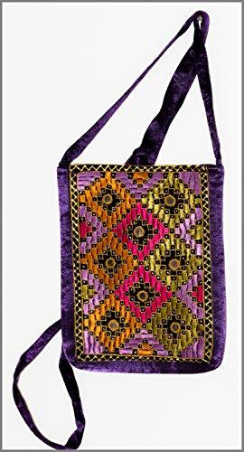 Crafts Galore by Fabucrafts , Damen Schultertasche violett violett