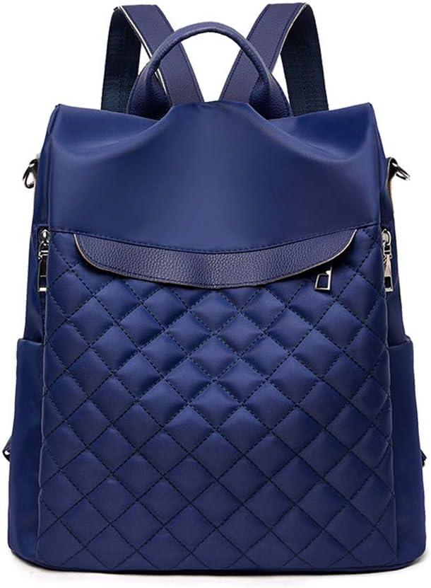 Findkey Mochila de Antirrobo Mujer Bolsos Oxford Bandolera Bolso de Viaje,Azul,30x11x31cm