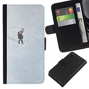 EJOY---La carpeta del tirón la caja de cuero de alta calidad de la PU Caso protector / Sony Xperia Z3 D6603 / --Dibujo lindo de la muchacha del invierno