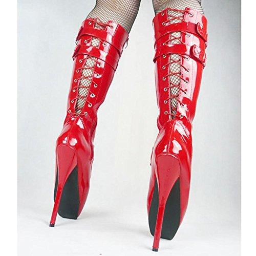 Club Talon Bottes Bottes Plateforme FéTiche Cuissardes Sexy Plus Genou à De Aiguilles Aiguille Cuissarde Haut Cuisse Hauts Talons Cuissardes éTendue Cuir Chaussures Cosy XIE 41 42 Femme L BHxqdgwEE