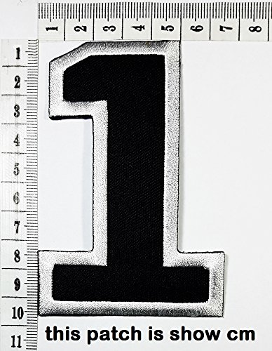 Black Number 1 No 1 math counting no 1 school patch logo Sew On Patch Clothes Bag T-Shirt Jeans Biker Badge Applique Badge Bag