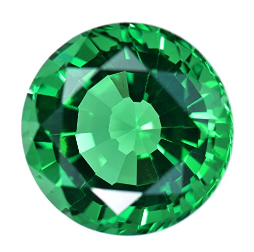 Simulated Emerald Faceted Cut Loose Gem Round (Lab Created Gems)