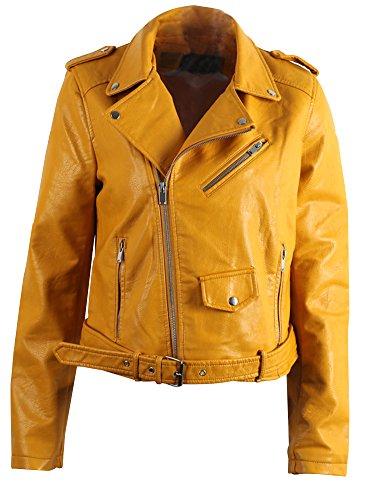 Yellow Leather Jacket - 5