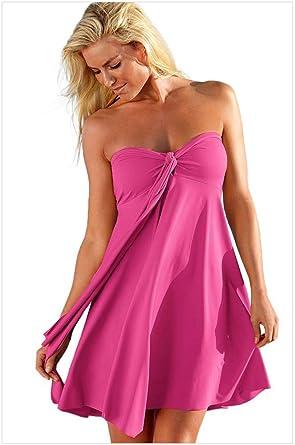 Amadoierly Falda de Playa Bikini Femenino Falda Irregular de Playa ...
