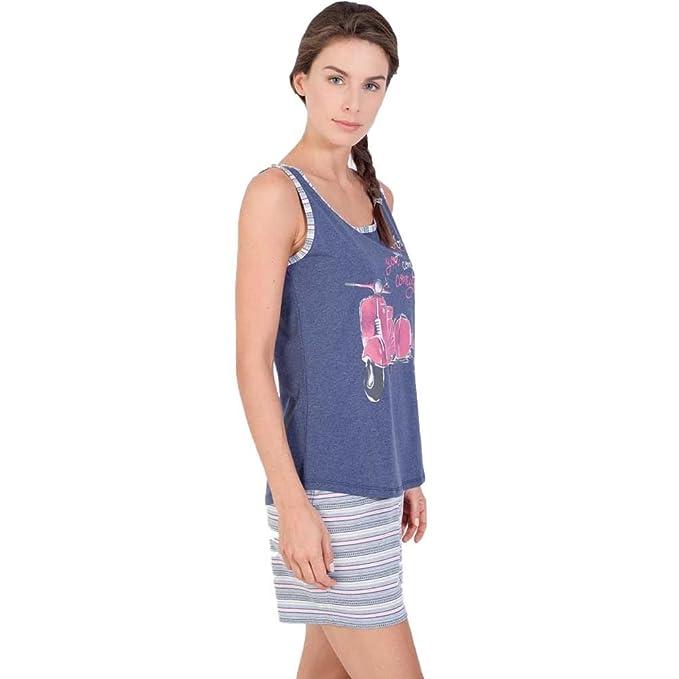 MASSANA Pijama de Mujer sin Mangas Estampado P181221: Amazon.es: Ropa y accesorios