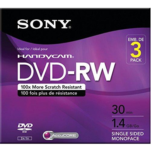 Sony 8cm DVD-RW with Hangtab - Single