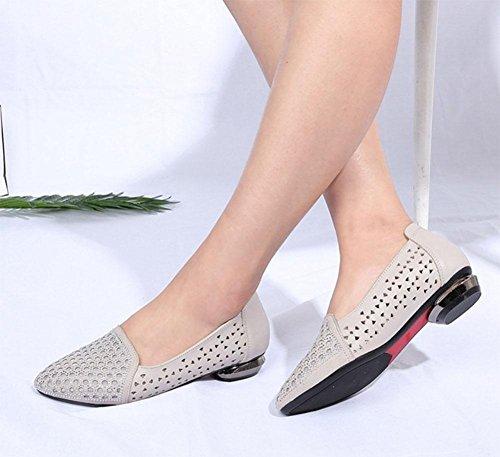 Zapatos Ahuecan Los Diamante Botas Mujeres Meili Sandalias Femeninas Las Acentuados Planos De Hilado White Del Hilan IXwIqatOz