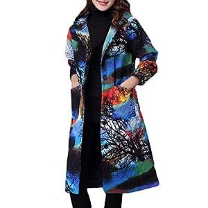 MOONHOUSE ❤️❤️ Women Ladies Winter Warm Folk-Custom Coat Tops Cotton-Padded Long Sleeve Cardigan Blouse Plus Size