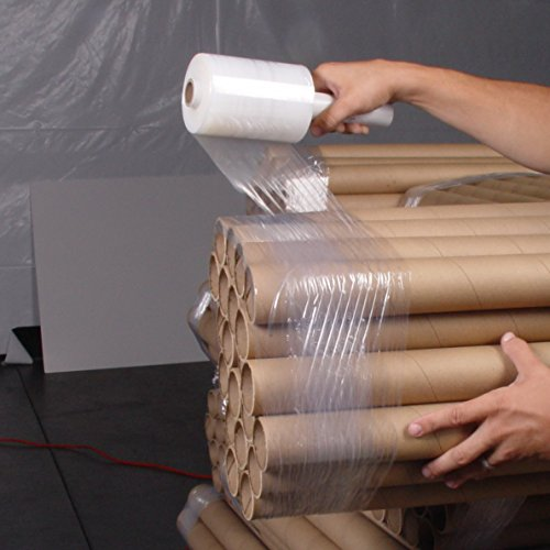 Cornerstone | Hand Stretch Film Wrap Rolls with Dispensers | Industrial Strength | Bundle Wrapping | 12 (Roll Film Holder)