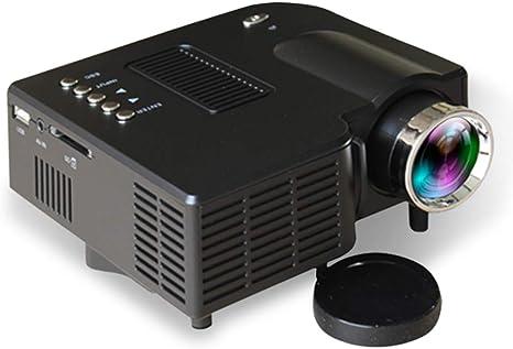 Opinión sobre QK Proyector, Mini proyector Full HD, proyector portatil Cine en casa de 60 Pulgadas 1080P Compatible con AV/VGA/USB/SD/HDMI,Negro