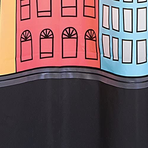 180 x 200 cm Rideau de Baignoire /étanche Couleur : multicoloure Accessoire de Salle de Bain avec 12 Anneaux renforc/és pour Une Suspension Facile mDesign Rideau de Douche Anti-moisissure