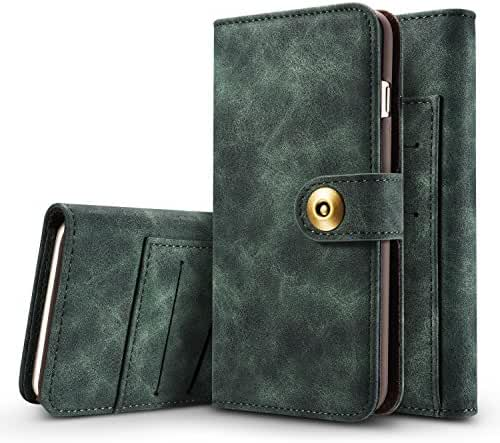 Samsung Galaxy S8/S8 Plus Wallet Phone Case Flip Cover Magnetic Detachable Case with Card Slots