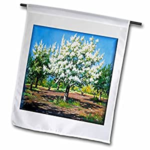 Susan Brown Designs Nature Themes - Spring Trees Blooming - 18 x 27 inch Garden Flag (fl_41418_2)