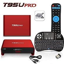 BPSMedia® T95U Pro 4K Amlogic S912 3GB/32GB Set Top TV Box Android 6.0 Lollipop OS XBMC Octa Core Google Streaming Media Player Emmc with 5G WiFi HDMI DLNA + I8 Mini Wireless Keyboard