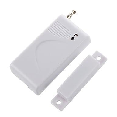 R 433MHZ Inalambrico Puerta Ventana Iman Sensor Detector De Alarma Sistema De Seguridad En El Hogar SODIAL
