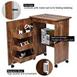 Sewing Table Folding Sewing Craft Cabinet with