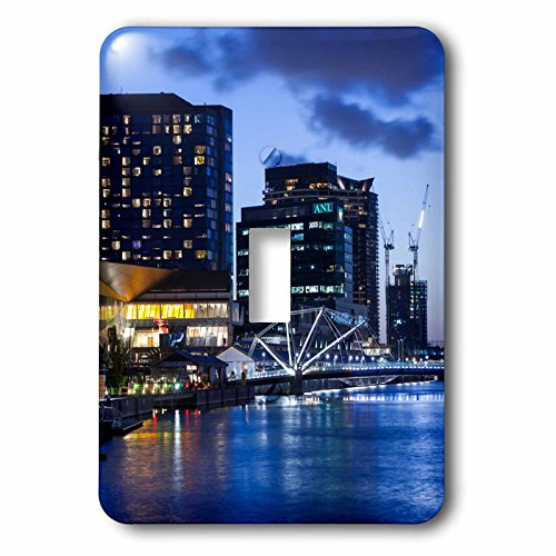 Danita Delimont - Australia - Australia, Melbourne, South Wharf, Bridge over the Yarra River, dusk - Light Switch Covers - single toggle switch - Wharf Melbourne