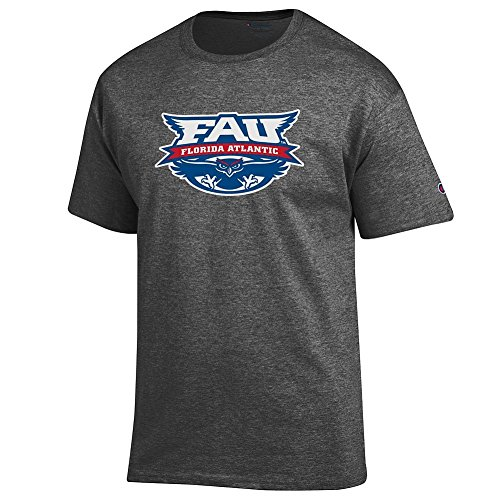 Elite Fan Florida Atlantic Owls Men's Short Sleeve Arch Tee, Dark Heather, Medium ()